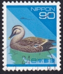 Stamps : Asia : Japan :  Anas zonorhyncha
