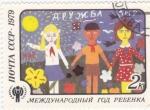 sello : Europa : Rusia : dibujo infantil-