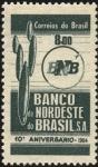 Stamps Brazil -  10mo. aniversario del BANCO NORDESTE DE BRASIL.