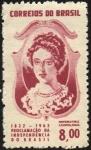 Stamps Brazil -  150 años de la proclamación de la independencia de Brasil. Emperatriz LEOPOLDINA.