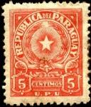 Sellos de America - Paraguay -  Escudo de Paraguay. U.P.U.