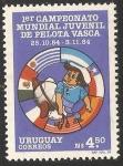 Sellos del Mundo : America : Uruguay : I Campeonato mundial juvenil de pelota vasca