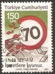 Stamps Turkey -  seguridad en la carretera, limitación de velocidad