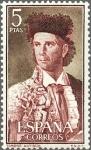 Stamps Europe - Spain -  ESPAÑA 1960 1265 Sello Nuevo Fiesta Nacional Tauromaquia Torero Antiguo Paquito