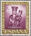 Sellos de Europa - España -  ESPAÑA 1961 1367 Sello Nuevo VII Expo Consejo Europa Arte Románico Yv1036 Virgen de Irache
