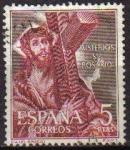 Sellos del Mundo : Europa : España :  ESPAÑA 1962 1471 Sello Misterios del Santo Rosario Cristo con la Cruz El Greco Usado