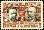 Sellos de America - Paraguay -  Cincuentenario de la Universidad. Presidente Escobar y Dr. Zubizarreta.