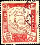 Stamps Paraguay -  Mapa del Chaco. El Chaco Boreal, ha sido, es y será del Paraguay.