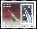 Stamps Cuba -  20 Aniversario 1er satelite artificial