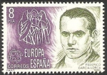 sellos de Europa - España -  2568 - Europa Cept, Federico García Lorca
