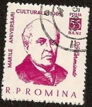 Sellos del Mundo : Europa : Rumania : Domingo Faustino Sarmiento - Escritor Político y Presidente de Argentina