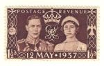 Sellos de Europa - Reino Unido -  Boda George VI