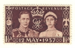 Stamps Europe - United Kingdom -  Boda George VI