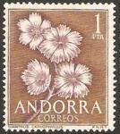 Stamps Andorra -  flor