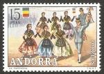 Stamps Europe - Andorra -  costumbres populares - danza de la marratxa