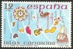 Stamps : Europe : Spain :  2623 - españa insular, islas canarias, carta de mateo prunes