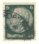 Sellos del Mundo : Europa : Alemania : Paul von Hindenburg