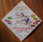 Stamps Colombia -  Atletismo