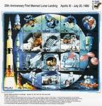 Stamps Oceania - Palau -  25 Aniversario Apolo 11