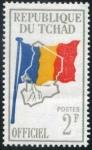 Sellos de Africa - Chad -  Bandera