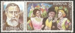 Stamps Spain -  2655 y 2656 - Maestro de la Zarzuela, Tomás Bretón