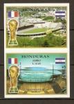 Sellos del Mundo : America : Honduras : CAMPEONATO  MUNDIAL  FRANCIA  1998.  ESTADIOS.
