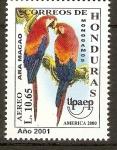 Sellos del Mundo : America : Honduras : UPAEP.  AMÈRICA  2000.  ARA  MACAO.