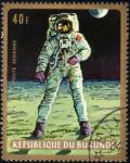 Stamps Burundi -  Apolo 11: Astronauta sobre la Luna