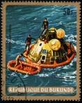 Stamps Africa - Burundi -  Apolo 11: Amerizaje del Columbia
