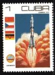 Stamps Cuba -  Interkosmos Soyuz 31: Despegue del  Vostok