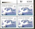 Stamps of the world : Honduras :  PAZ  FÈ  DEMOCRACIA  HONDURAS  ES  NUESTRA