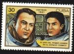 Stamps Cuba -  20 Aniversario del hombre en el Espacio