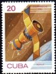 Stamps Cuba -  Dia de la Cosmonautica Soyuz
