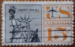 Stamps United States -  Libertad