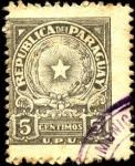 Stamps America - Paraguay -  Escudo de Paraguay. U.P.U.