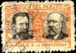 Stamps Paraguay -  50 aniversario de la Universidad de Asunción. Presidente Escobar y Doctor Zubizarreta.