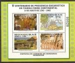 Stamps of the world : Honduras :  V  CENTENARIO  DE  PRESENCIA  EUCARÌSTICA  EN  TIERRA FIRMA  CONTINENTAL