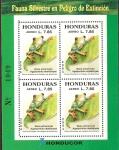 Stamps of the world : Honduras :  FAUNA  SILVESTRE  EN  PELIGRO  DE  EXTINCIÒN