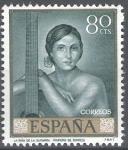 Stamps Spain -  1660 Julio Romero de Torres. Niña de la guitarra.