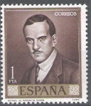Stamps Spain -  1661 Julio Romero de Torres.Retrato del pintor.