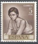 Stamps Spain -  1665 Julio Romero de Torres. Chiquita piconera.
