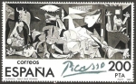 Stamps of the world : Spain :  2630 - Centº de Picasso, El Guernica en España
