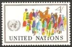 Stamps : America : ONU :  New York - Unión de los pueblos