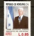 Sellos de America - Honduras -   PRIMER  AÑO  DE  GOBIERNO  DEL  ING.  JOSÈ  SIMÒN  AZCONA  HOYO