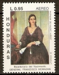 Stamps of the world : Honduras :  BICENTENARIO  DEL  NACIMIENTO  DE  J.  FRANCISCO  MORAZÀN Q.  DOÑA  JOSEFA  LASTIRI.