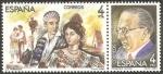 Stamps Spain -  2697-2698,  maestros de la zarzuela, francisco alonso