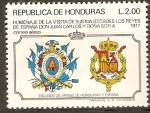 Sellos de America - Honduras -  VISITA  DE  LOS  REYES  DE  ESPAÑA  A  HONDURAS.  ESCUDOS.