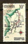 Sellos de America - Colombia -  Mapa
