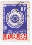 Sellos del Mundo : America : Uruguay : 50 Aniversario Automovil Club de Uruguay