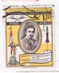 sellos de America - Perú -  1er centenario del nacimiento de Daniel Alcides Carrión García